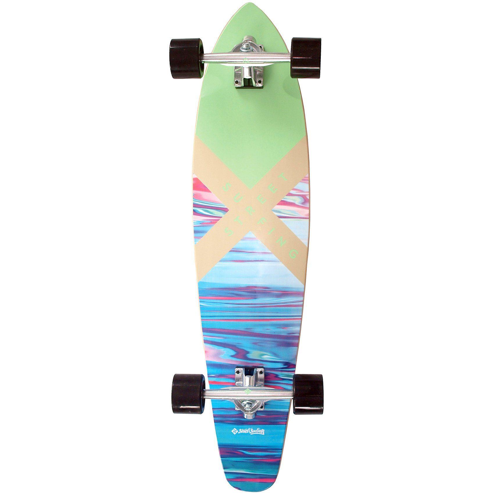 Streetsurfing Longboard Kicktail 36 Azure-P1, blau