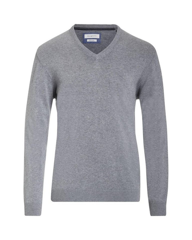 bugatti -  V-Ausschnitt-Pullover mit V-Ausschnitt