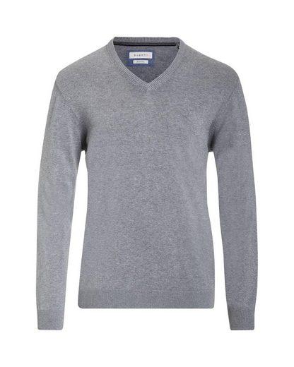 bugatti V-Ausschnitt-Pullover mit V-Ausschnitt