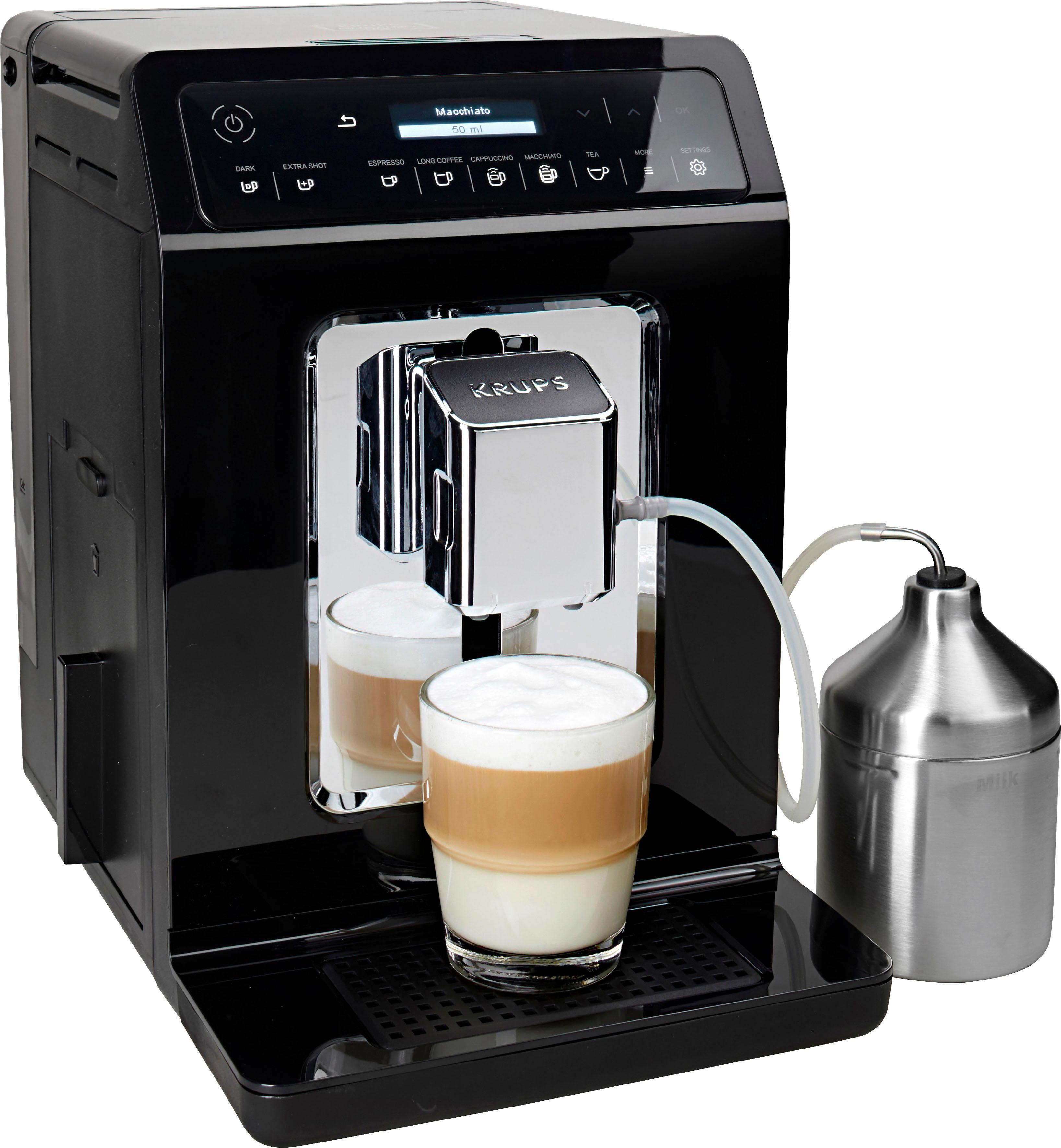 Krups Kaffeevollautomat Evidence EA8918, Doppel-Cappuccino-Funktion, 15 Getränkespezialitäten