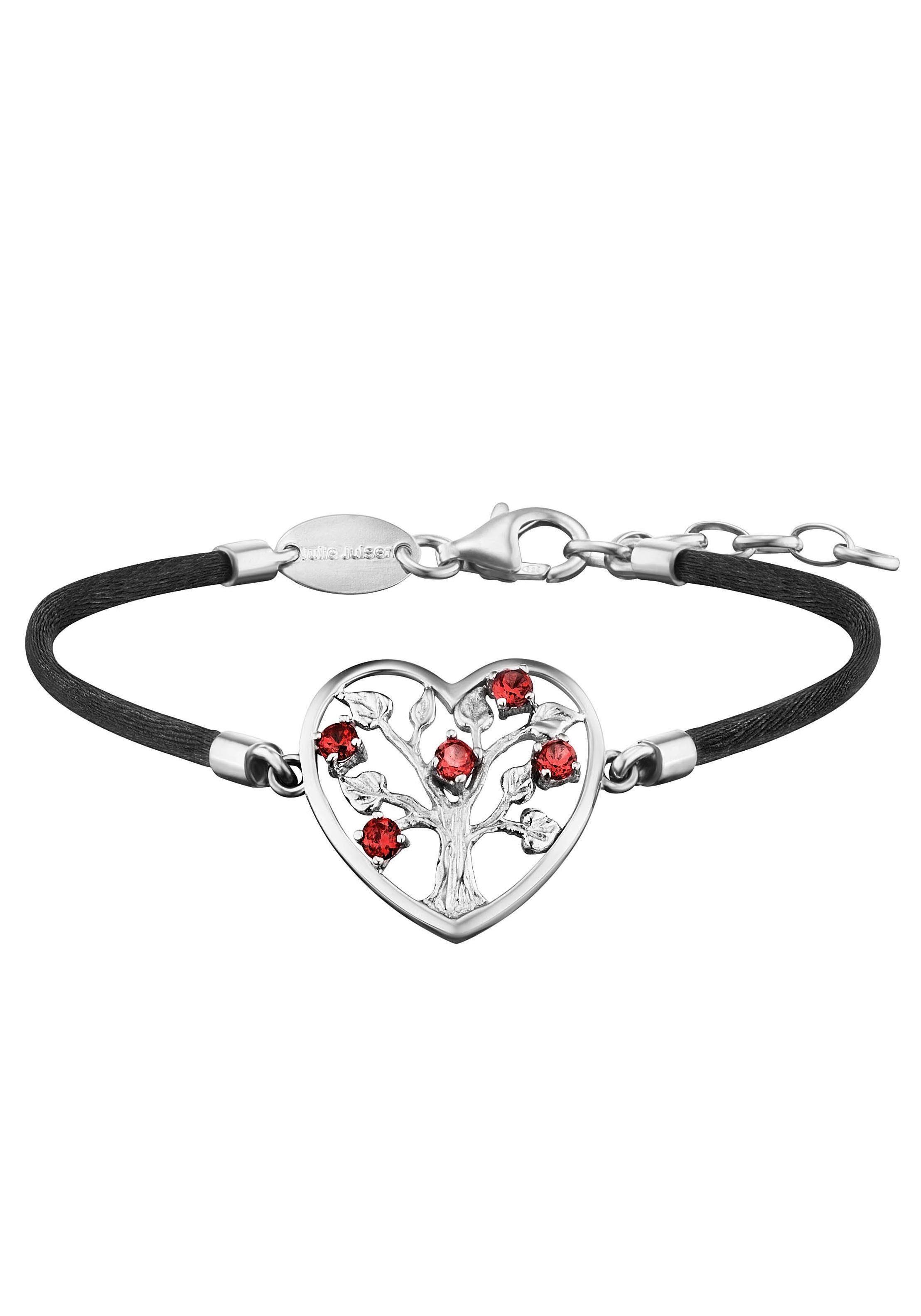 Julie Julsen Armband »HERZ, POEMS OF LIFE, JJBR0233.7« mit Granat