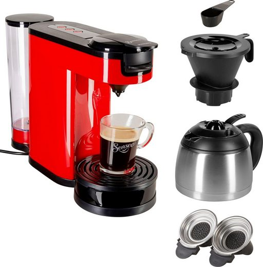 Senseo Kaffeepadmaschine SENSEO® Switch HD6592/80, 1l Kaffeekanne, Papierfilter