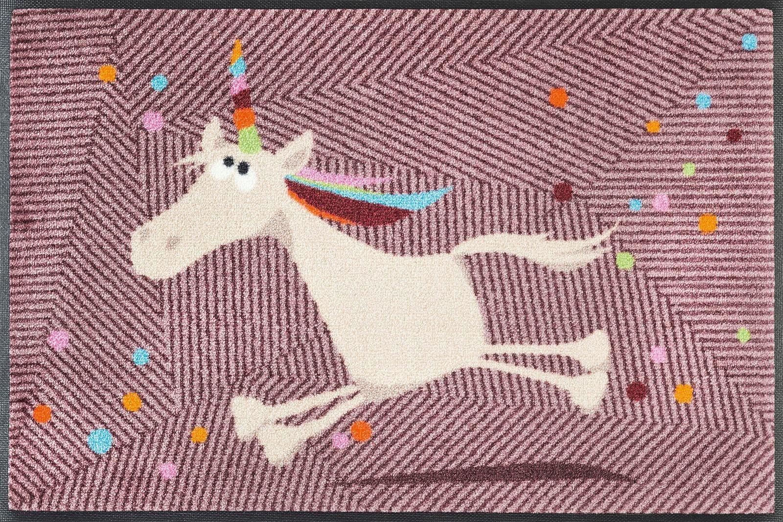 Fußmatte »Einhorn Marilou«, wash+dry by Kleen-Tex, rechteckig, Höhe 9 mm