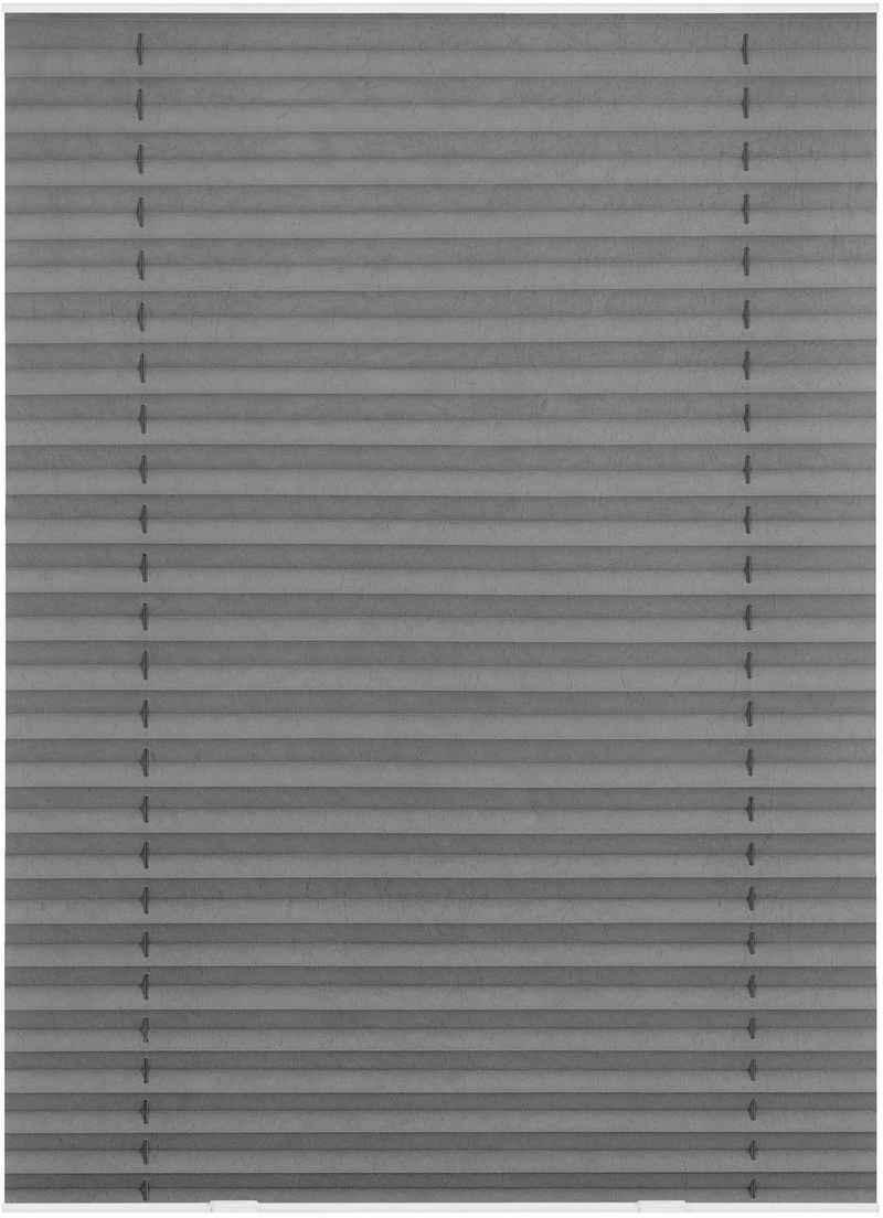 Dachfensterplissee C02/CK02 »Haftfix«, LICHTBLICK ORIGINAL, Lichtschutz, ohne Bohren, verspannt, Crush-Optik, mit Saugnapf