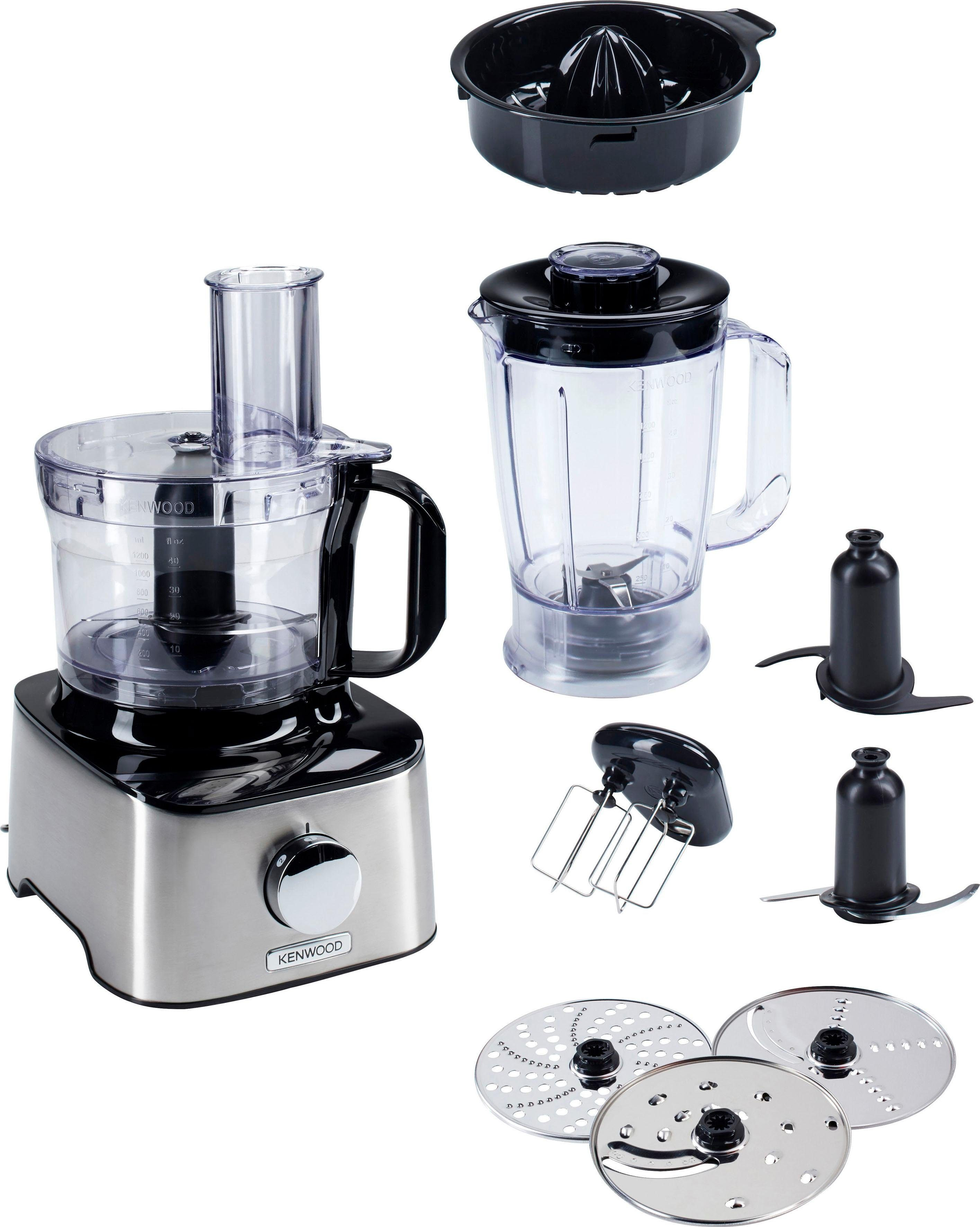 KENWOOD Küchenmaschine Multipro Compact FDM301SS, 800 W, 2,1 l Schüssel