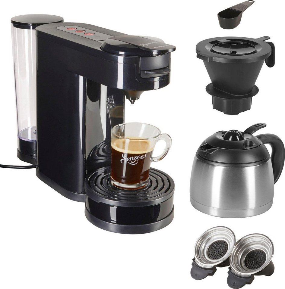 Senseo Kaffeepadmaschine SENSEOR Switch HD6592 60 1l Kaffeekanne Papierfilter