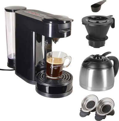 Senseo Kaffeepadmaschine SENSEO® Switch HD6592/60, 1l Kaffeekanne, Papierfilter