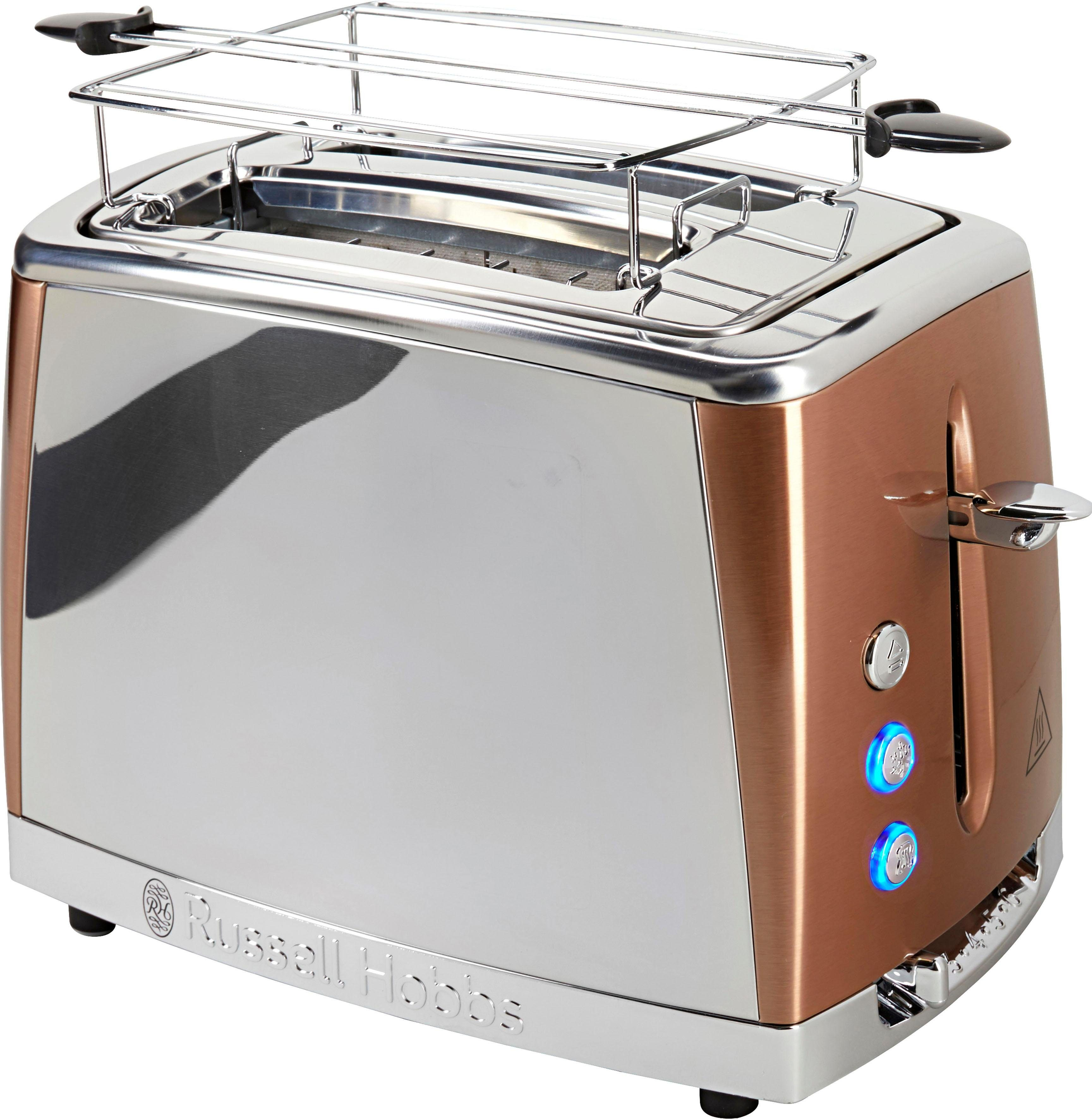 RUSSELL HOBBS Toaster Russell Hobbs Luna Copper Accents 24290-56, 2 lange Schlitze, für 2 Scheiben, 1550 W