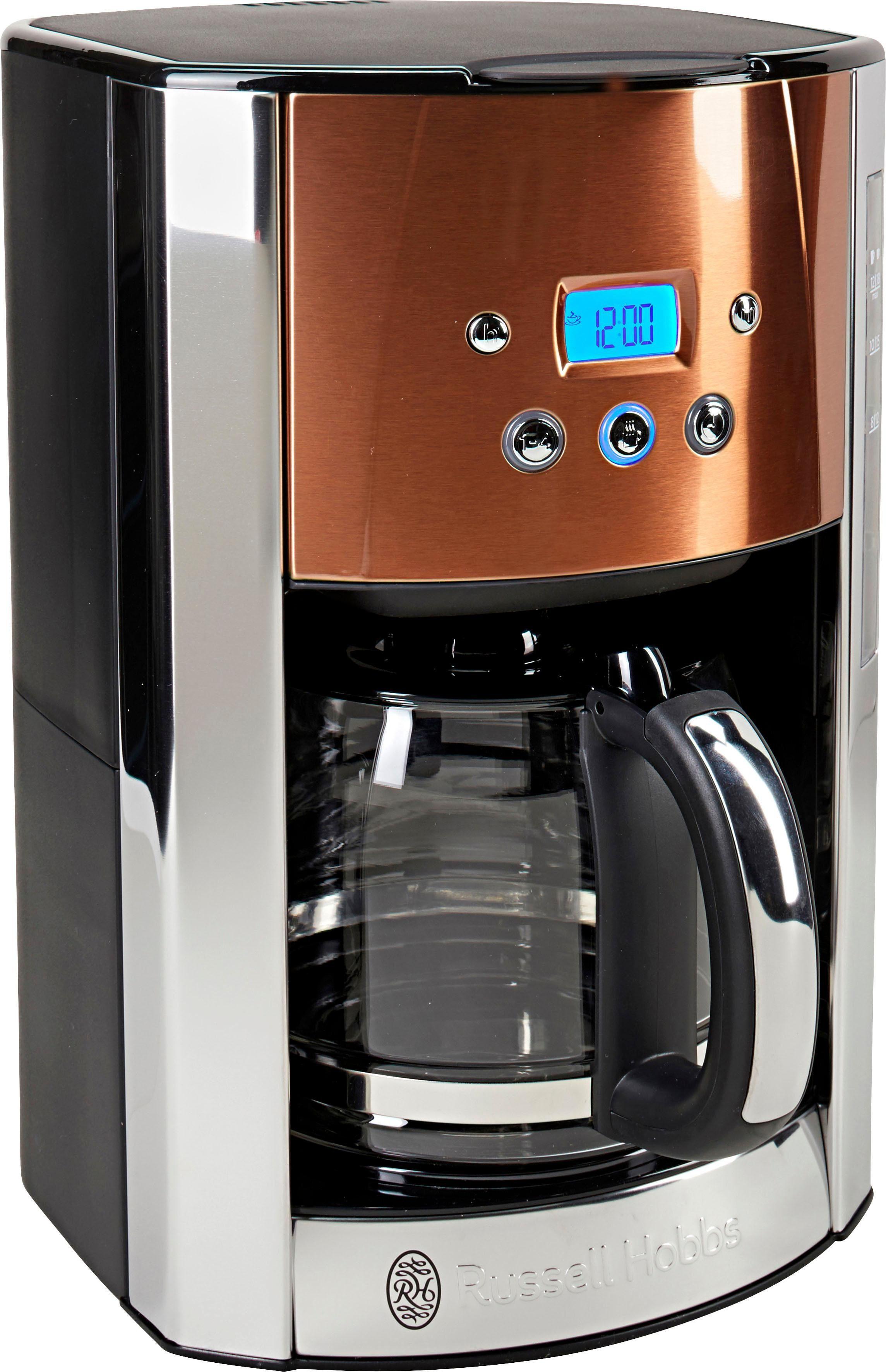 RUSSELL HOBBS Filterkaffeemaschine Luna Copper Accents 24320-56, 1,5l Kaffeekanne, Papierfilter 1x4, fingerabdruckresistenter Lackierung