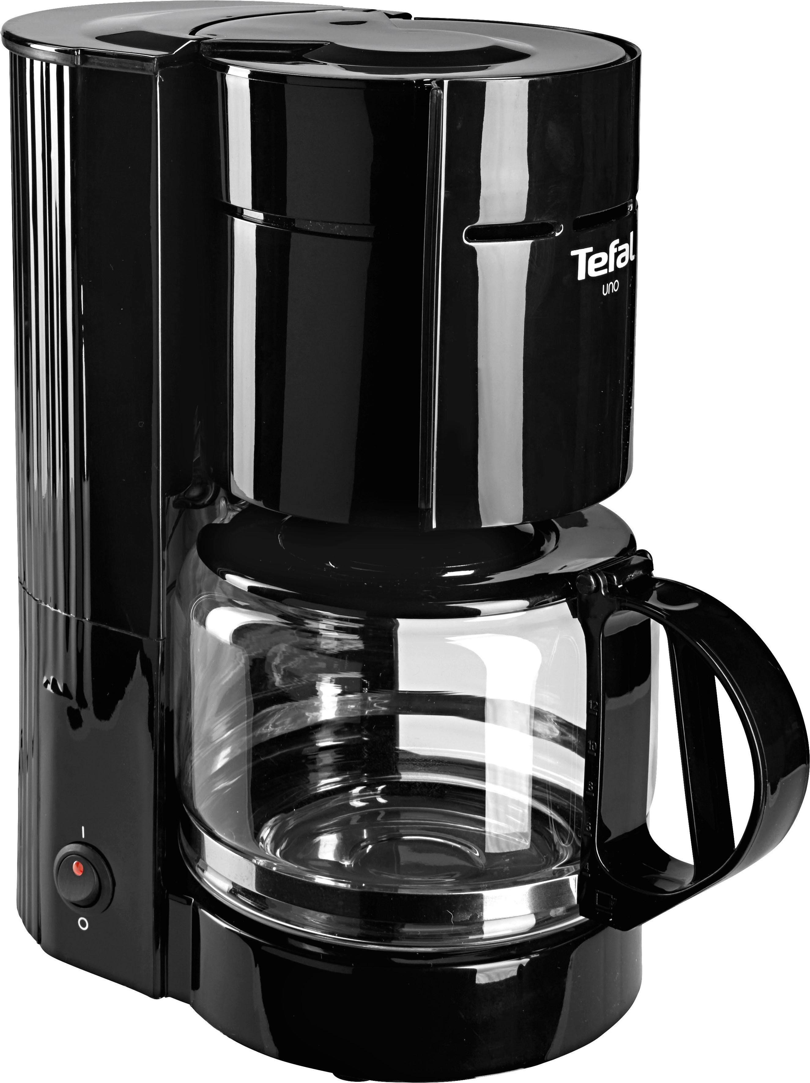 Tefal Filterkaffeemaschine CM1218 UNO, 1,1l Kaffeekanne, Papierfilter