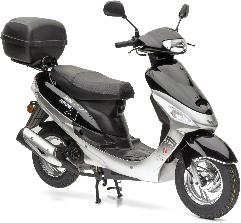 Nova Motors Motorroller »City Star Euro 4«, 49 ccm, 45 km/h, Euro 4, (Set, 2 tlg., mit Topcase)