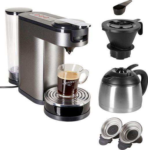 Senseo Kaffeepadmaschine SENSEO® Switch HD6596/50, 1l Kaffeekanne, Papierfilter