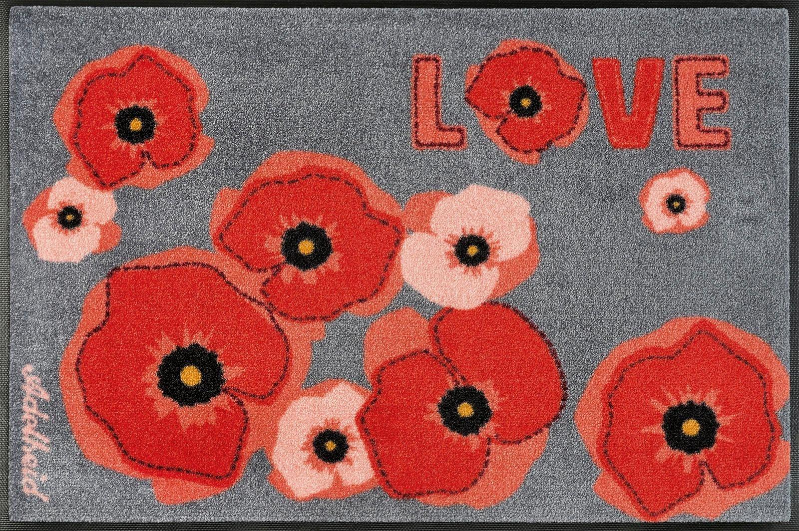 Fußmatte »Mohnblüte«, wash+dry by Kleen-Tex, rechteckig, Höhe 9 mm | Heimtextilien > Fussmatten | wash+dry by Kleen-Tex