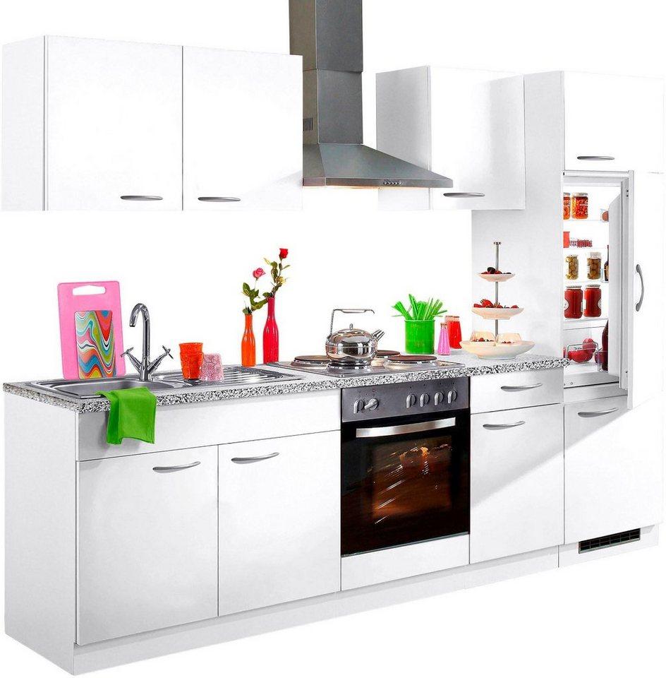 wiho k chen k chenzeile kiel mit e ger ten breite 270 cm online kaufen otto. Black Bedroom Furniture Sets. Home Design Ideas