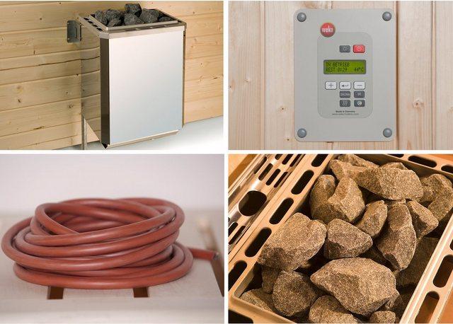 WEKA Set: Saunaofen »OS«, 9 kW, externe Steuerung, inkl. Zubehör | Bad > Sauna & Zubehör > Saunaöfen | weka
