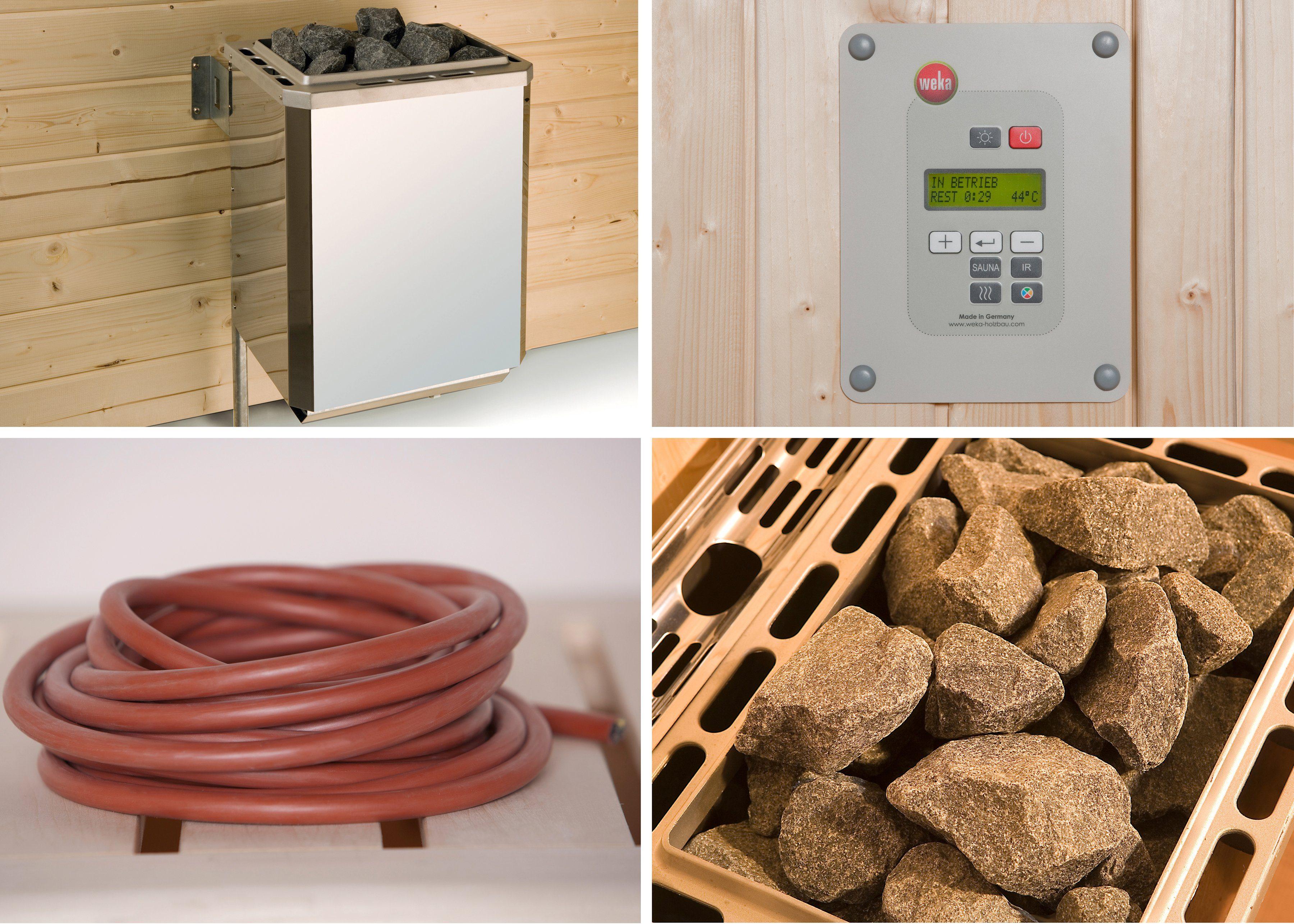 WEKA Set: Saunaofen »OS«, 7,5 kW, externe Steuerung, inkl. Zubehör
