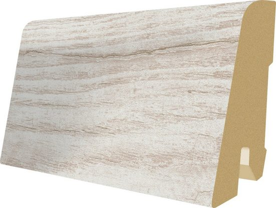 EGGER Sockelleiste »L204 - Cascina Pinie, Villefort Pinie weiss«, 6 cm Sockelhöhe, 240 cm Länge