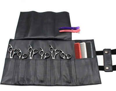 Friseurmeister Taschen-Kamm »Friseur-Tasche aus Kunstleder - in Schwarz - Salon Werkzeugtasche aus Kunsteder für Scheren, Kämme und anderen Friseurbedarf«