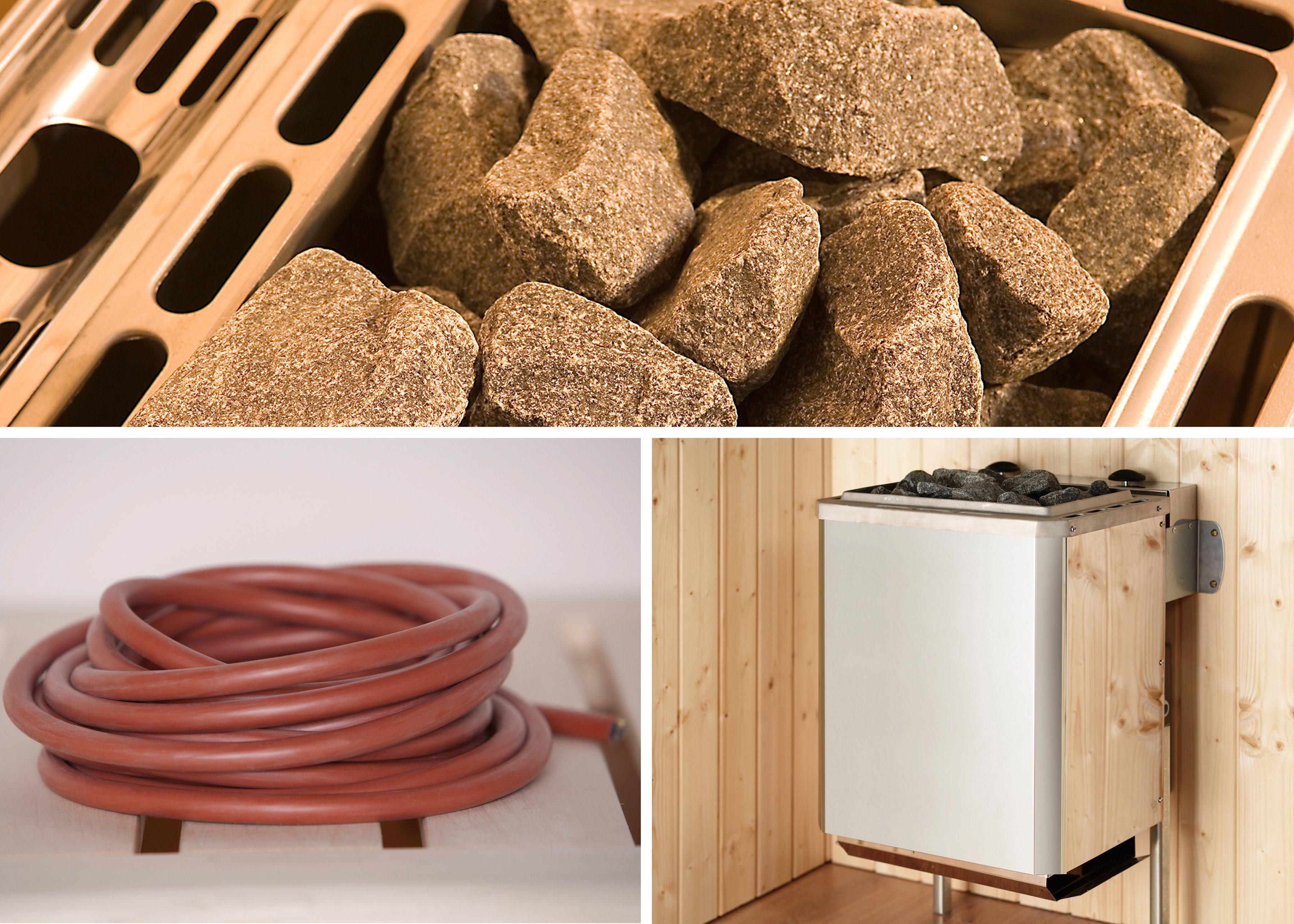 WEKA Set: Saunaofen »Kompakt«, 5,4 kW, integrierte Steuerung, inkl. Zubehör