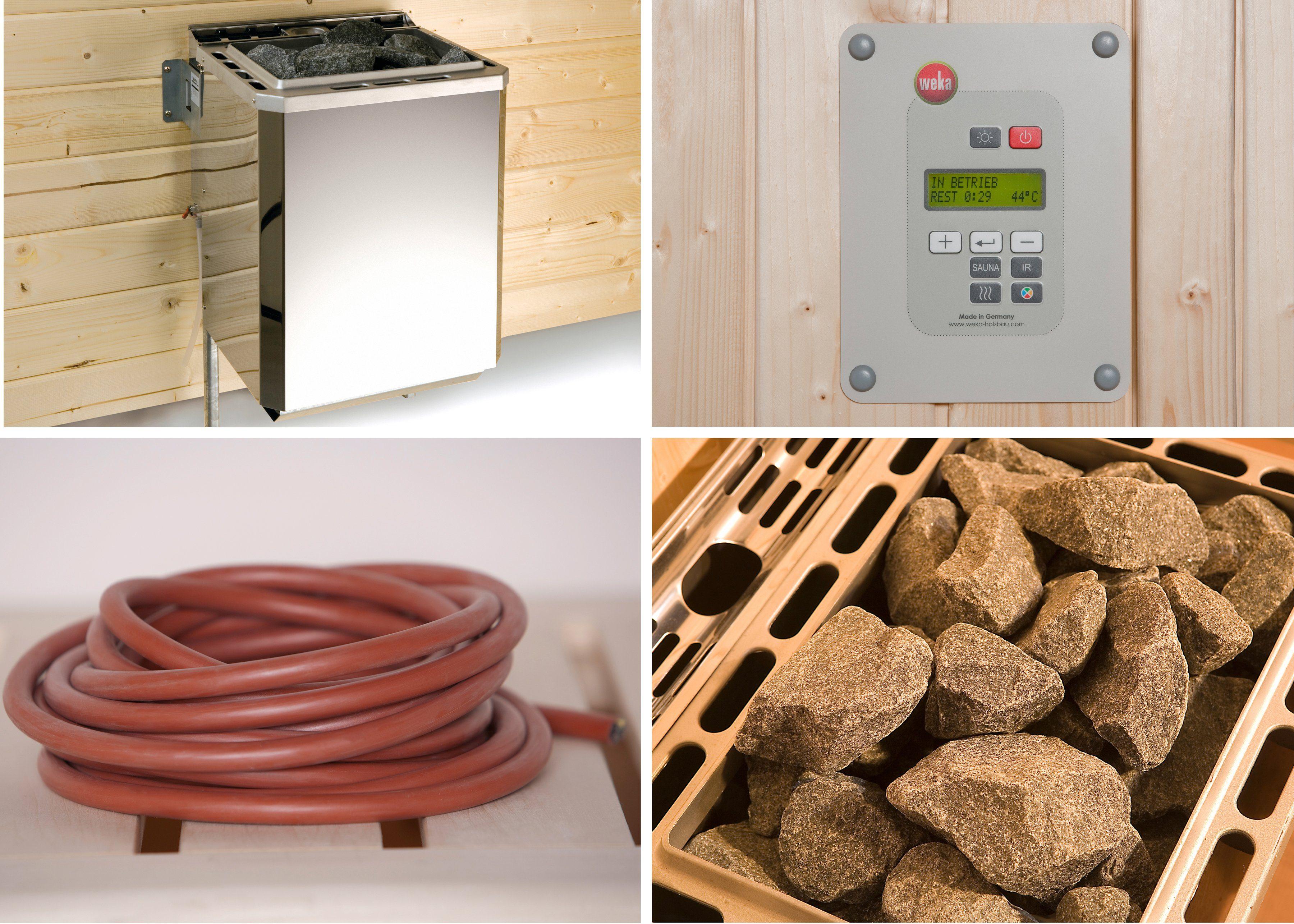 WEKA Set: Bio-Kombiofen »BioS«, 4,5 kW, externe Steuerung, inkl. Zubehör