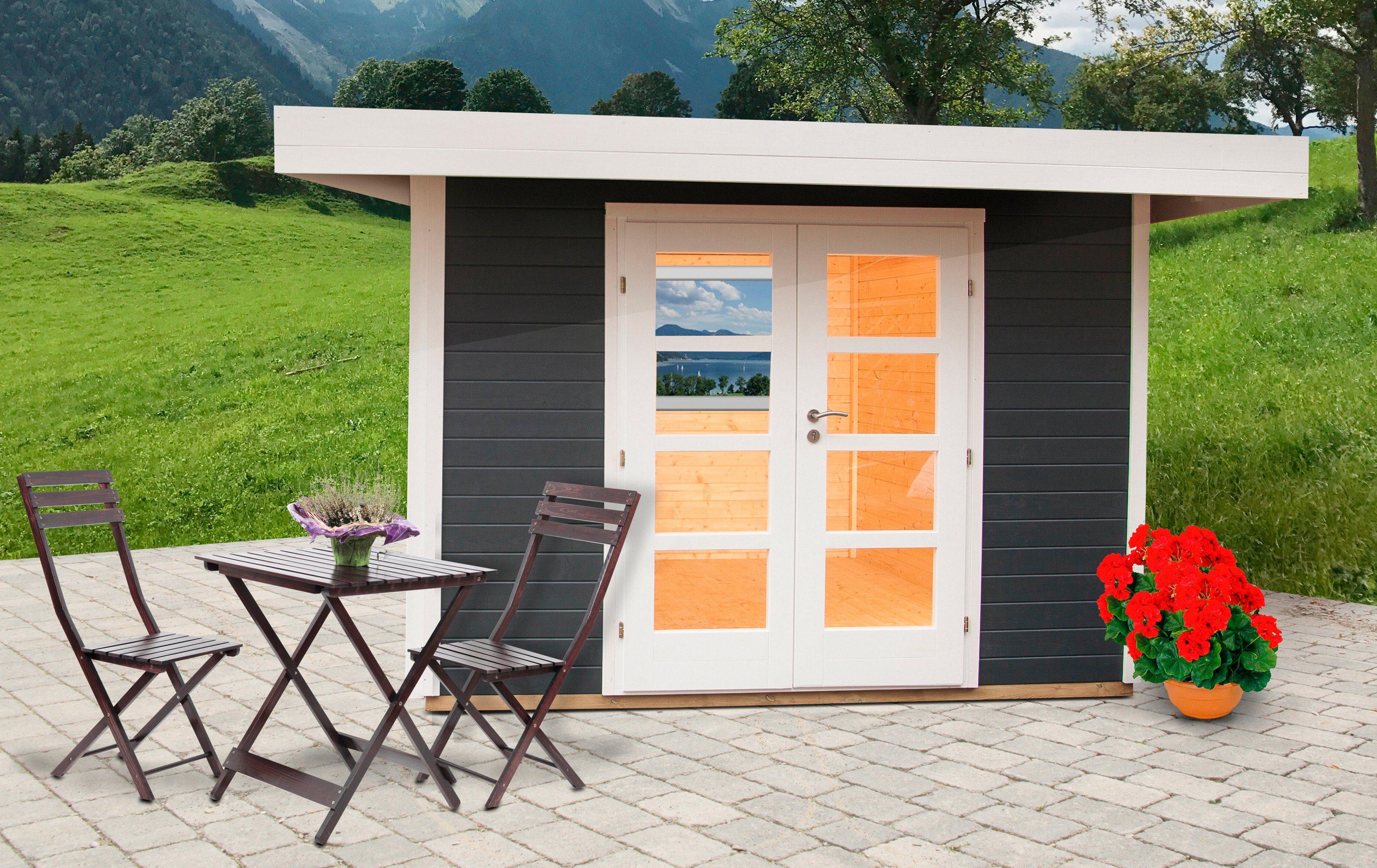 WOLFF Gartenhaus »Relax Lounge B«, BxT: 356x314 cm, anthrazit