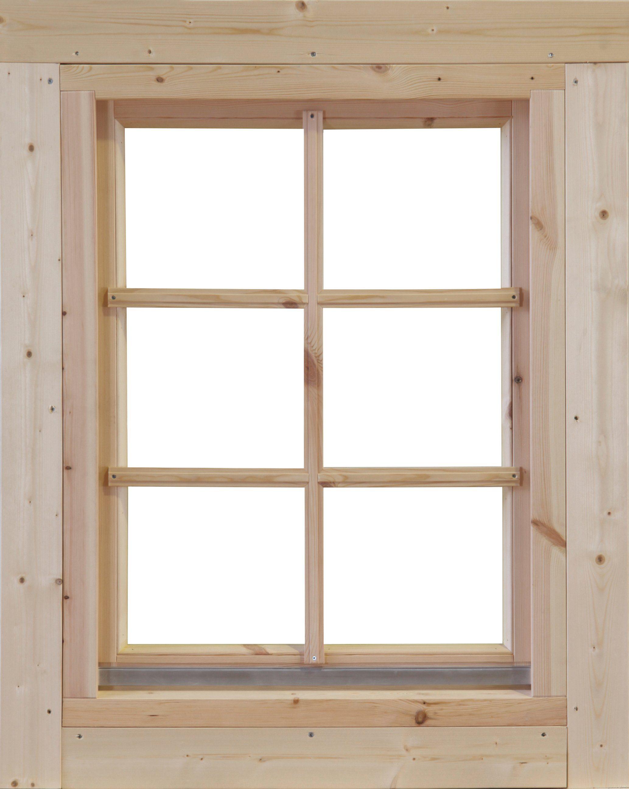WOLFF FINNHAUS Fenster »Nordkap 70«, BxH: 86,5x99,6 cm