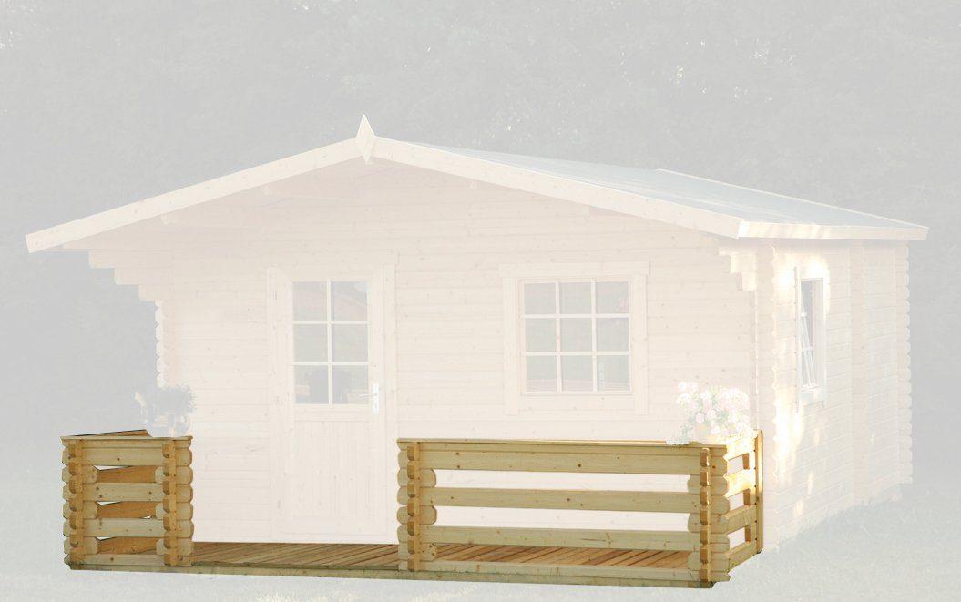 WOLFF Terrasse , für Gartenhaus, BxT: 500x200 cm