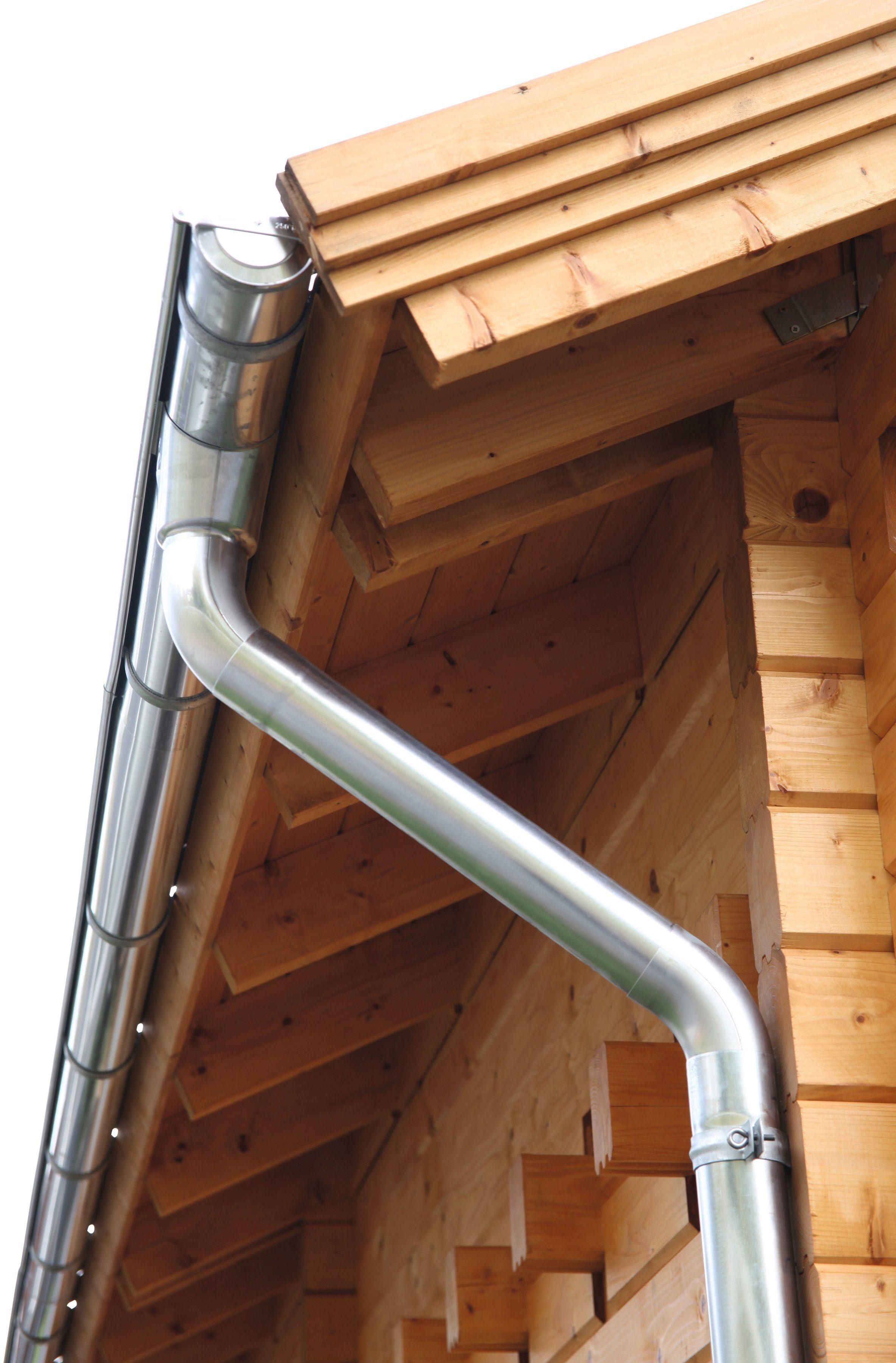 WOLFF Dachrinne , Alu, für Satteldach bis 800 cm