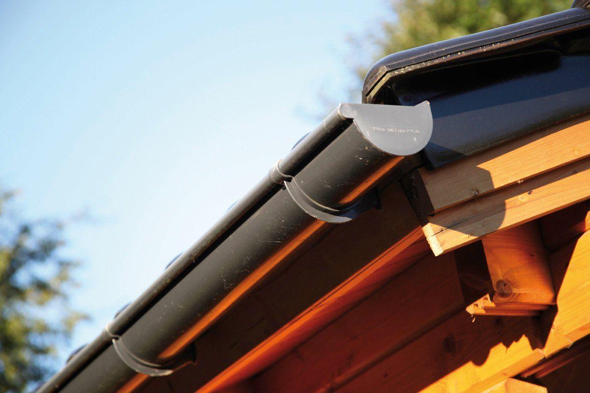 WOLFF Dachrinne »K4B«, Kunststoff, Ergänzungsset 2x2 Meter