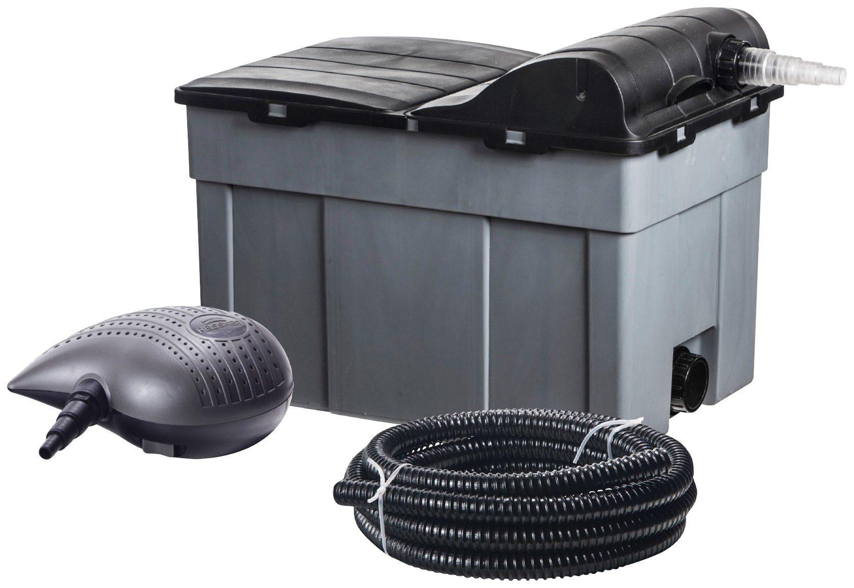 HEISSNER Teichfilter »FPU16000-Set«, mit UVC-Klärer, Förderleistung:3.300 l/h
