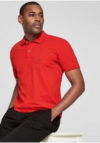 Herren s.Oliver BLACK LABEL Poloshirt aus Stretch-Piqué rot | 04060843126196