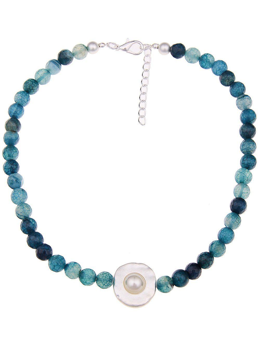 Leslii Halskette mit Steinkugeln