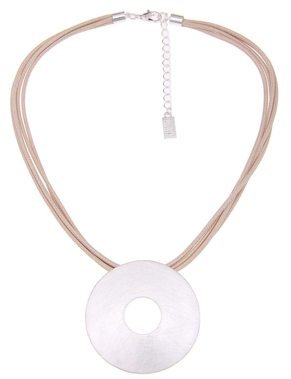 Leslii Halskette mit mattierter Scheibe