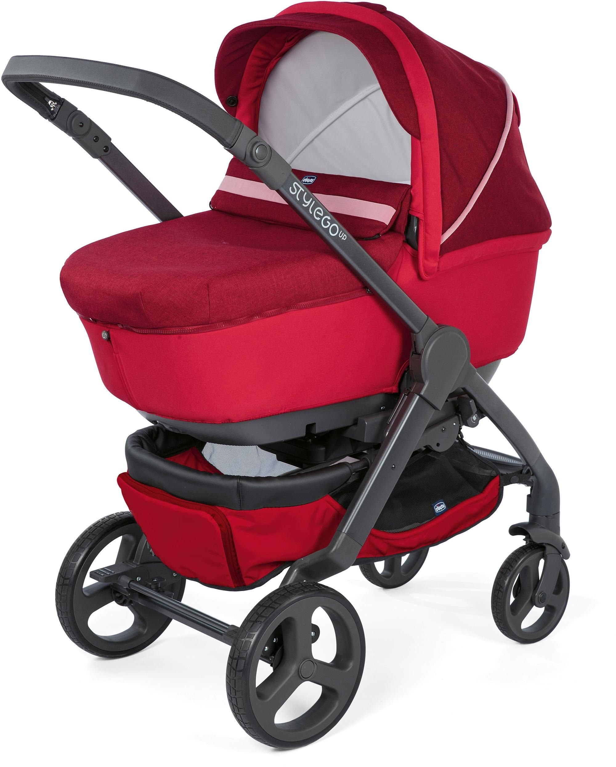 Chicco® Kombi Kinderwagen, »Duo StyleGo Up Crossover, Red Passion«