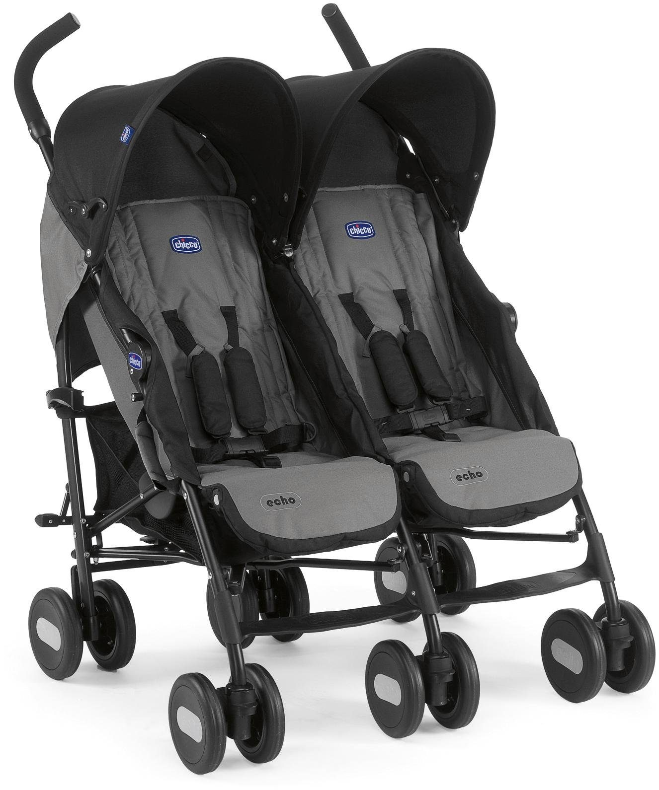 Chicco® Zwillingswagen, »Echo Twin, Coal«