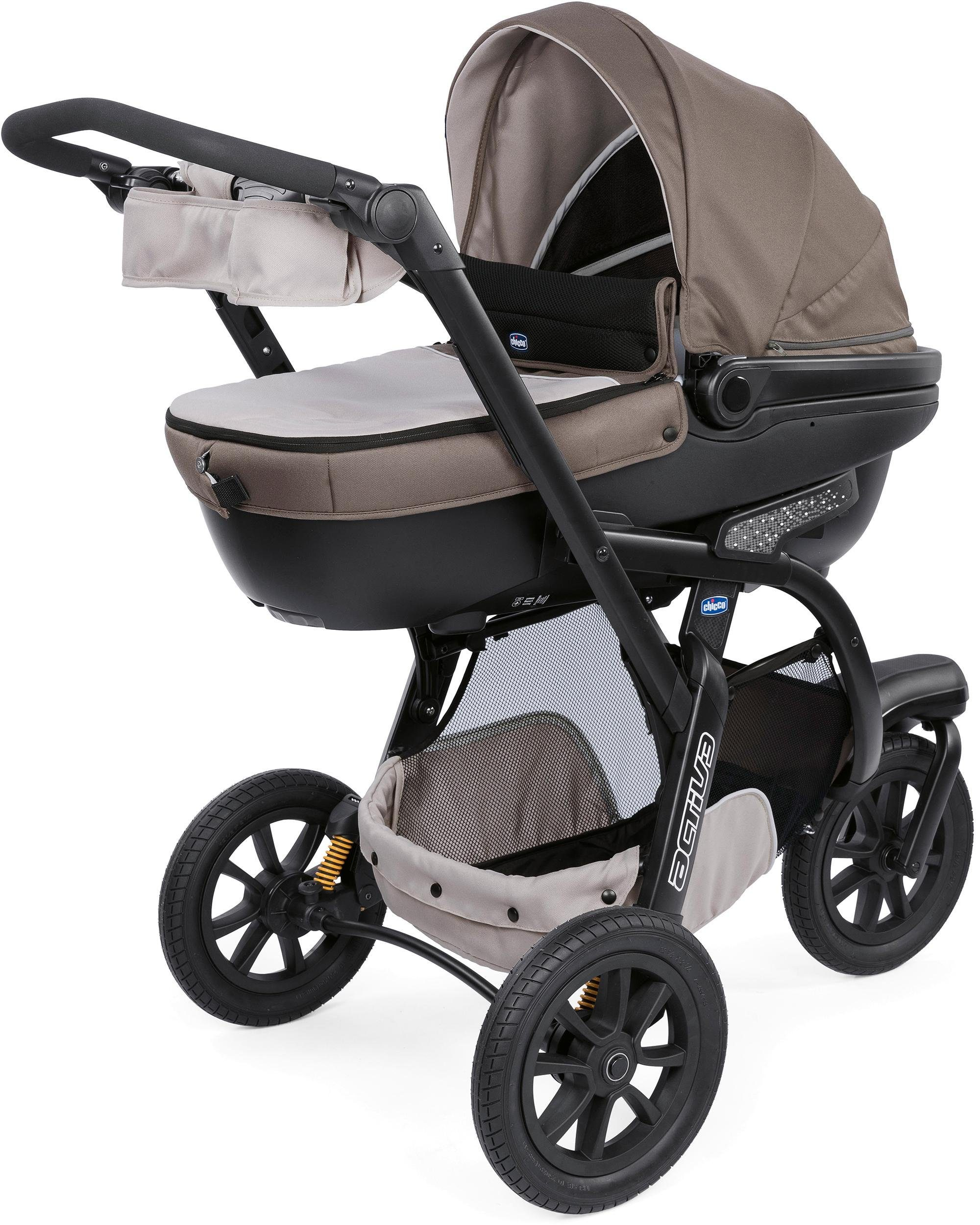 Chicco® Kombi Kinderwagen, »Trio-System Activ3 Top mit Kit Car, Dove Grey«