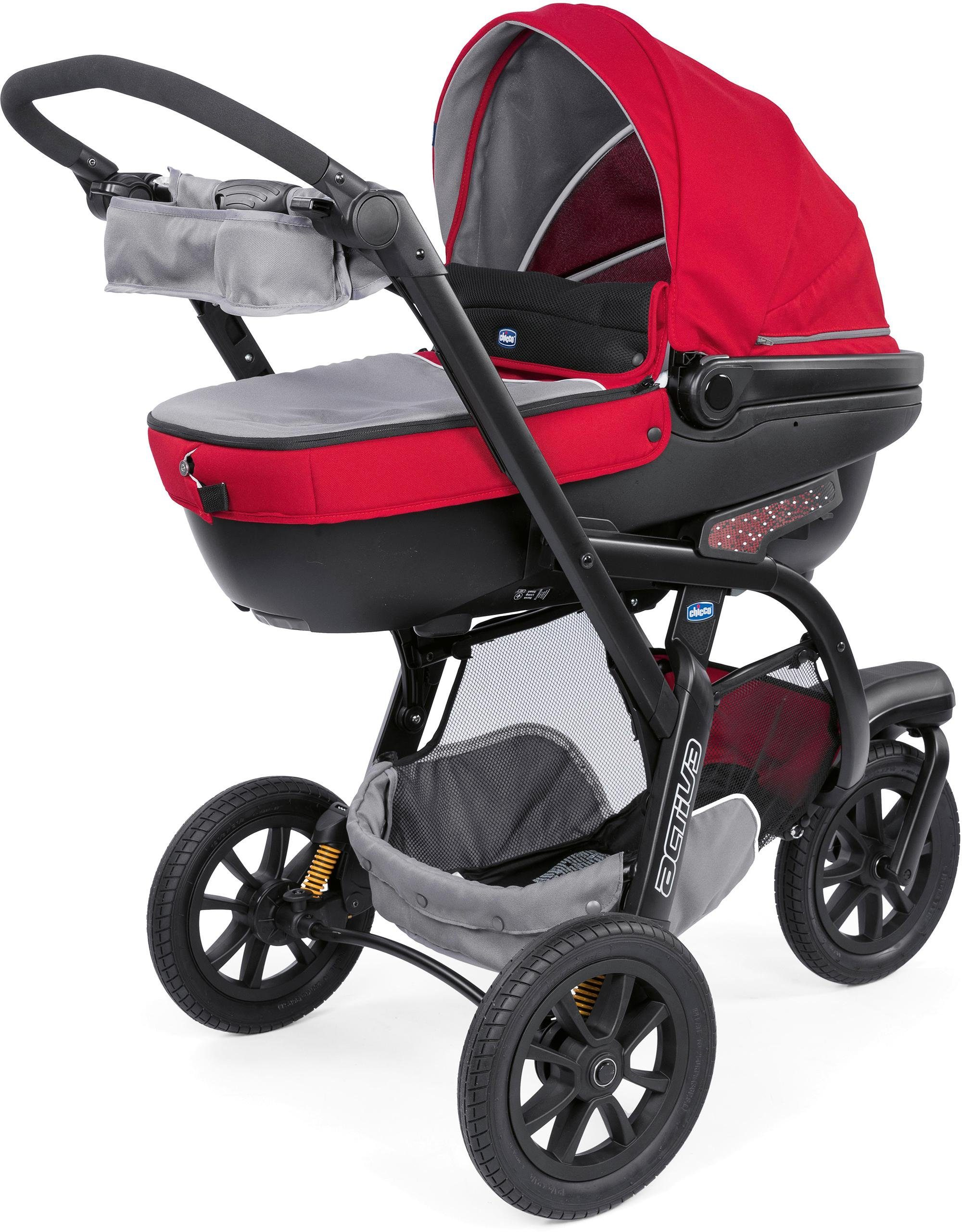 Chicco® Kombi Kinderwagen, »Trio-System Activ3 Top mit Kit Car, Red Berry«