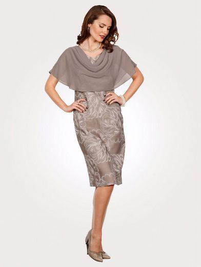 Mona Kleid mit Chiffonüberwurf
