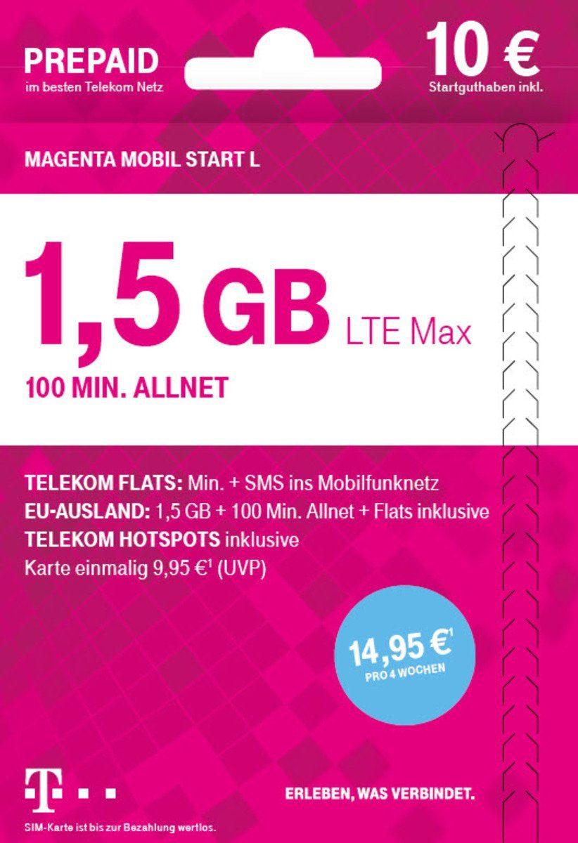 Telekom Prepaid Karte »Mobil Start L 10€ SGH«
