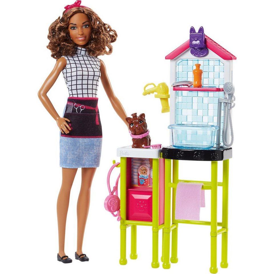Mattel® Barbie Tierfriseurin Puppe und Spielset