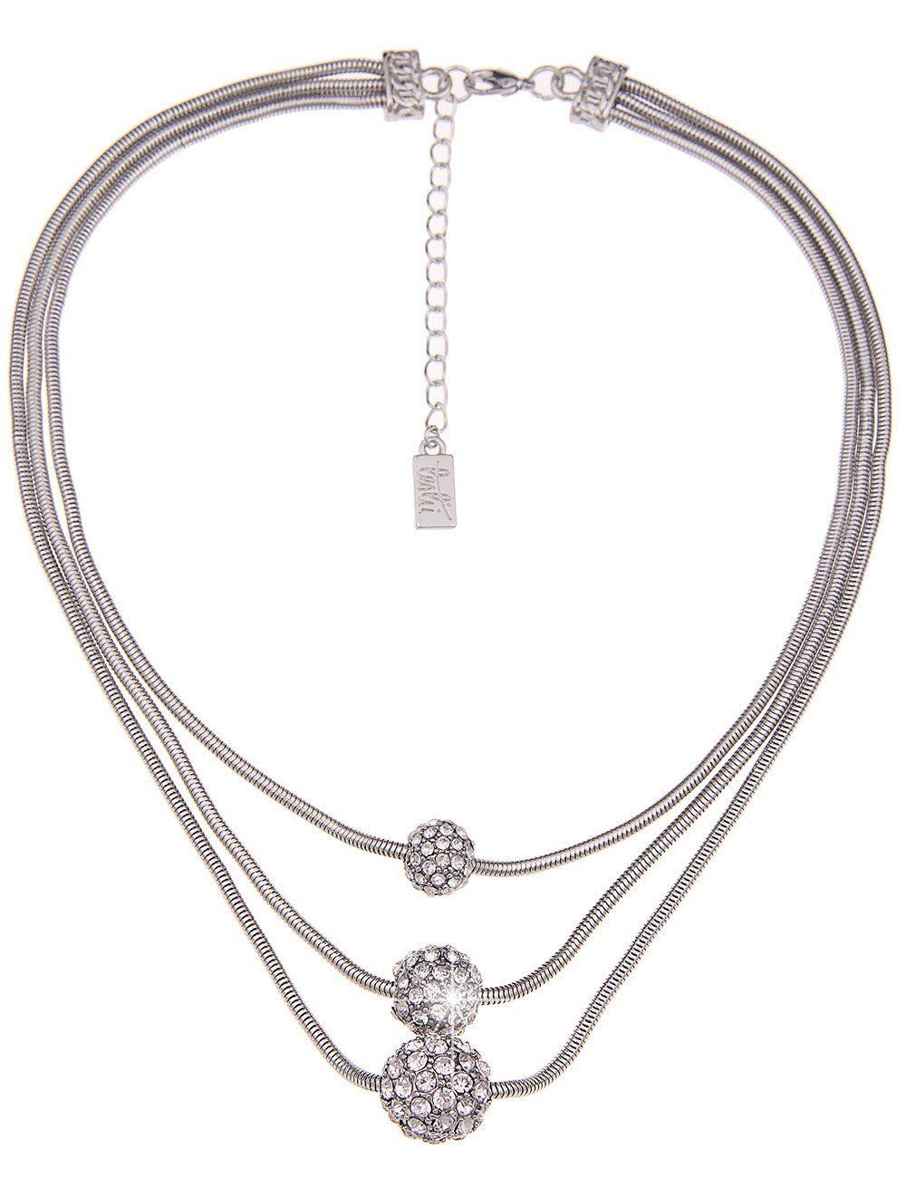 Leslii Halskette mit Premium Glitzer-Kugeln