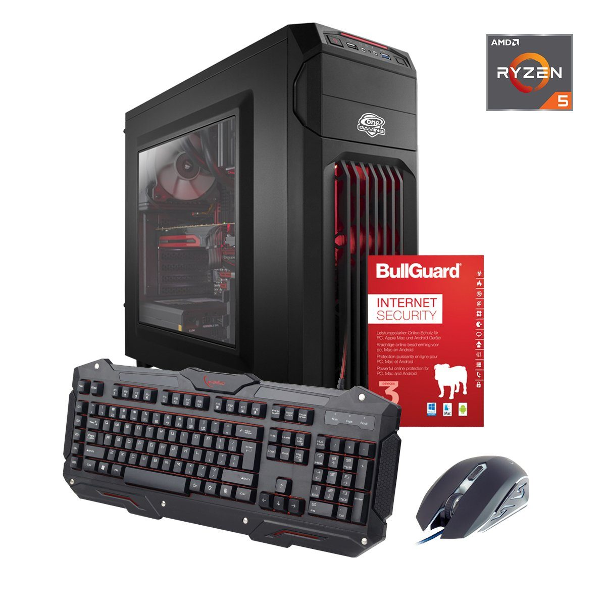 ONE GAMING PC, Ryzen 5 1500X, GeForce GTX 1060, 8GB DDR4 RAM »PC 44541«