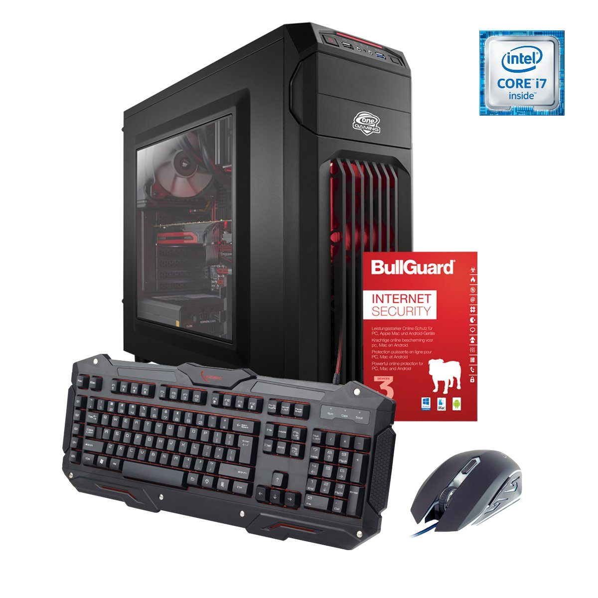 ONE GAMING PC, Core i7-7700K, GeForce GTX 1080, 16GB DDR4 RAM »PC 44519«