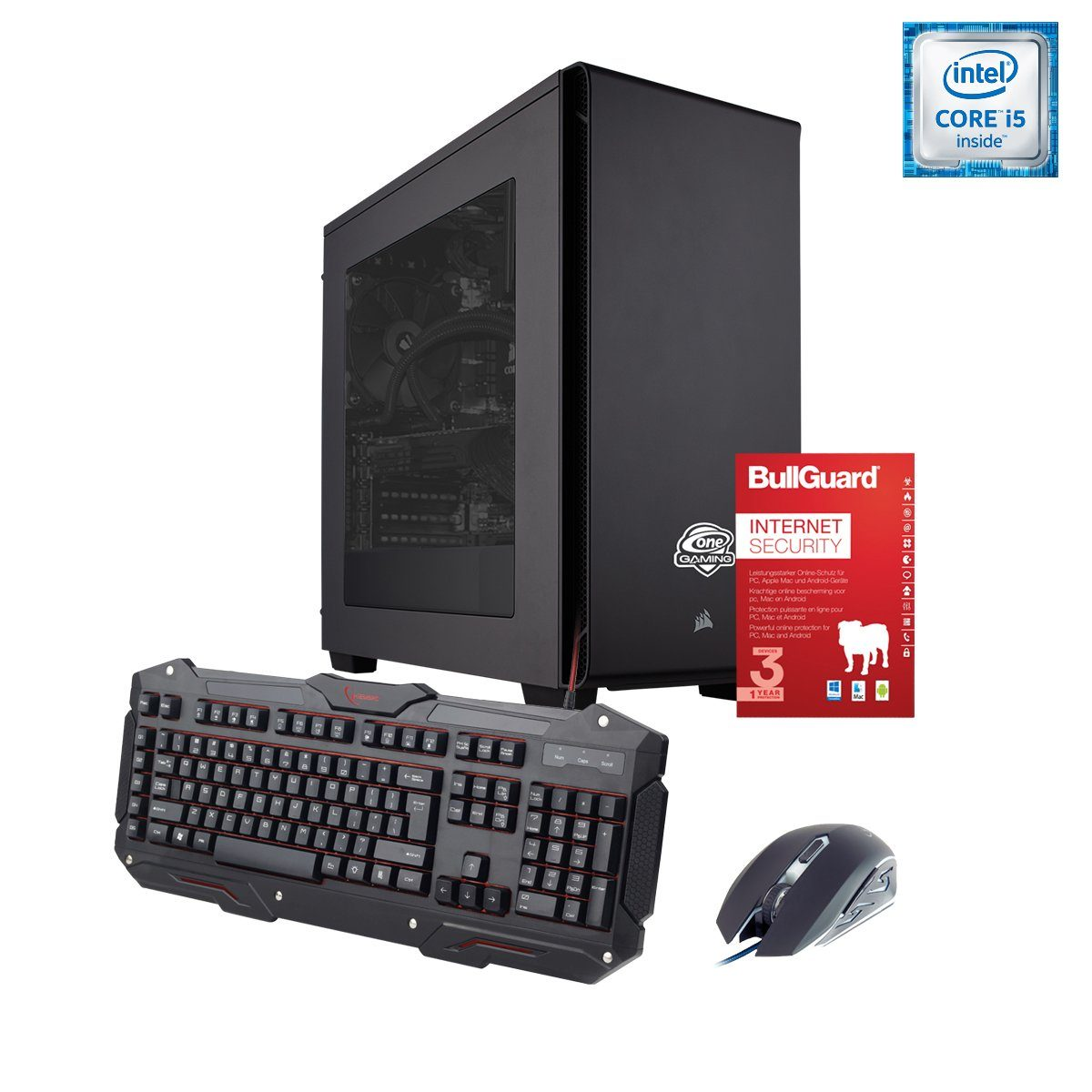 ONE GAMING PC, Core i5-7500, GeForce GTX 1050, 8GB DDR4 RAM »PC 44506«