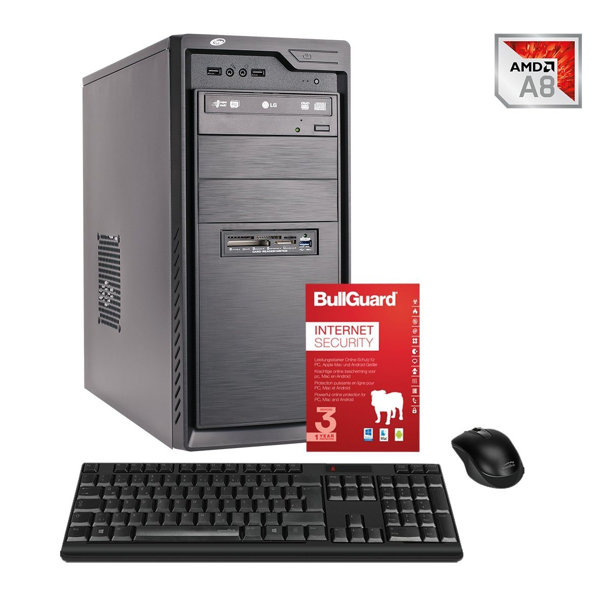 ONE PC, A8-9600, Radeon R7, 8GB DDR4 RAM »Office PC 44034«