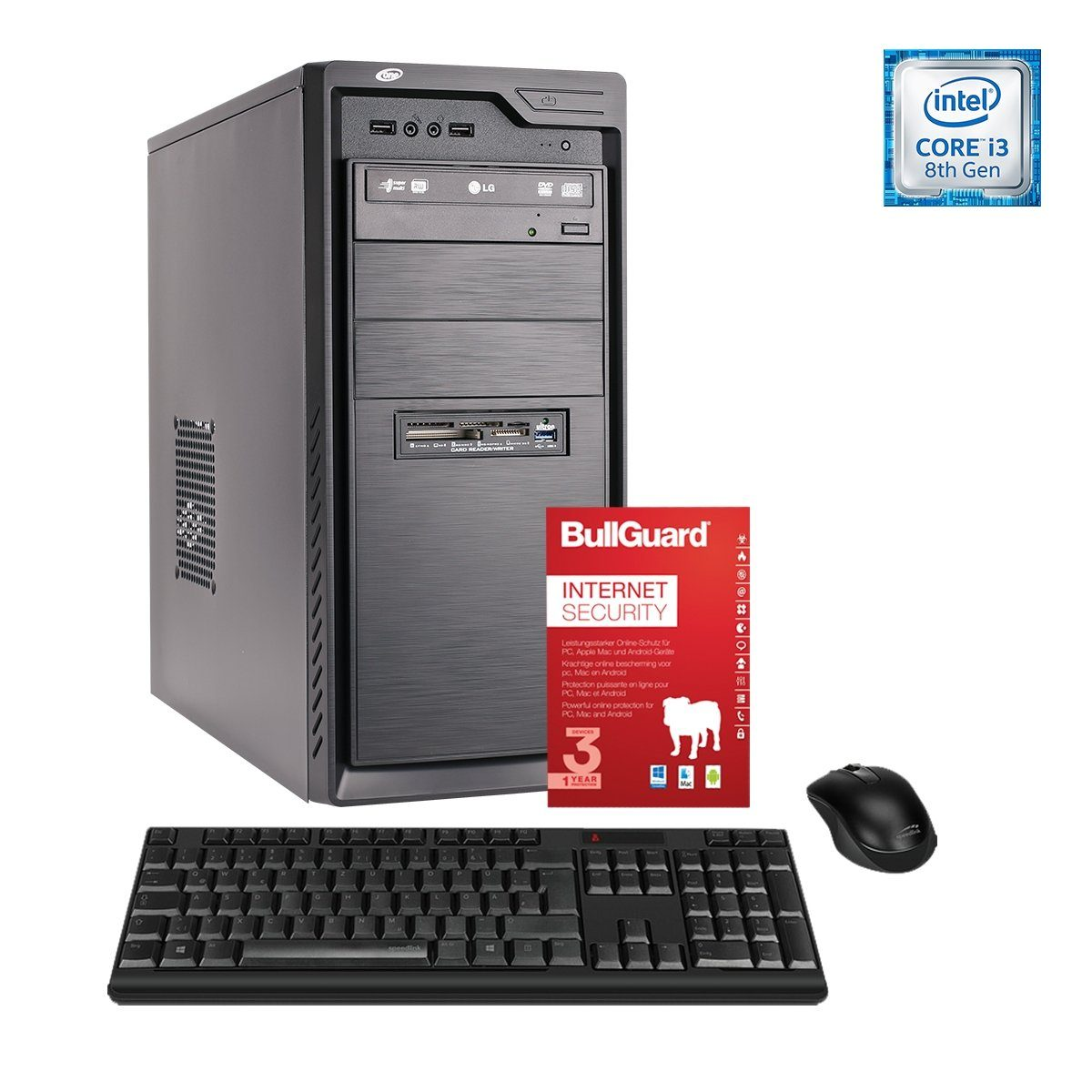 ONE PC, Core i3-8100, HD Graphics, 8GB DDR4 SDRAM »Office PC 44037«