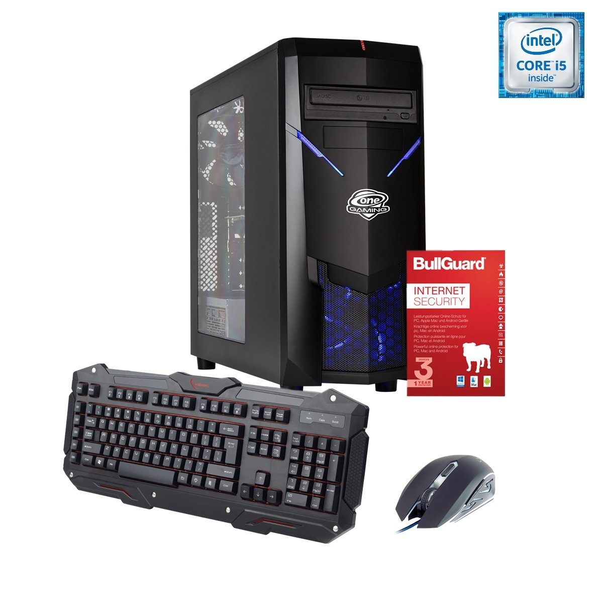 ONE GAMING PC, Core i5-7500, GeForce GTX 1050 Ti, 8GB DDR4 RAM »PC 44594«