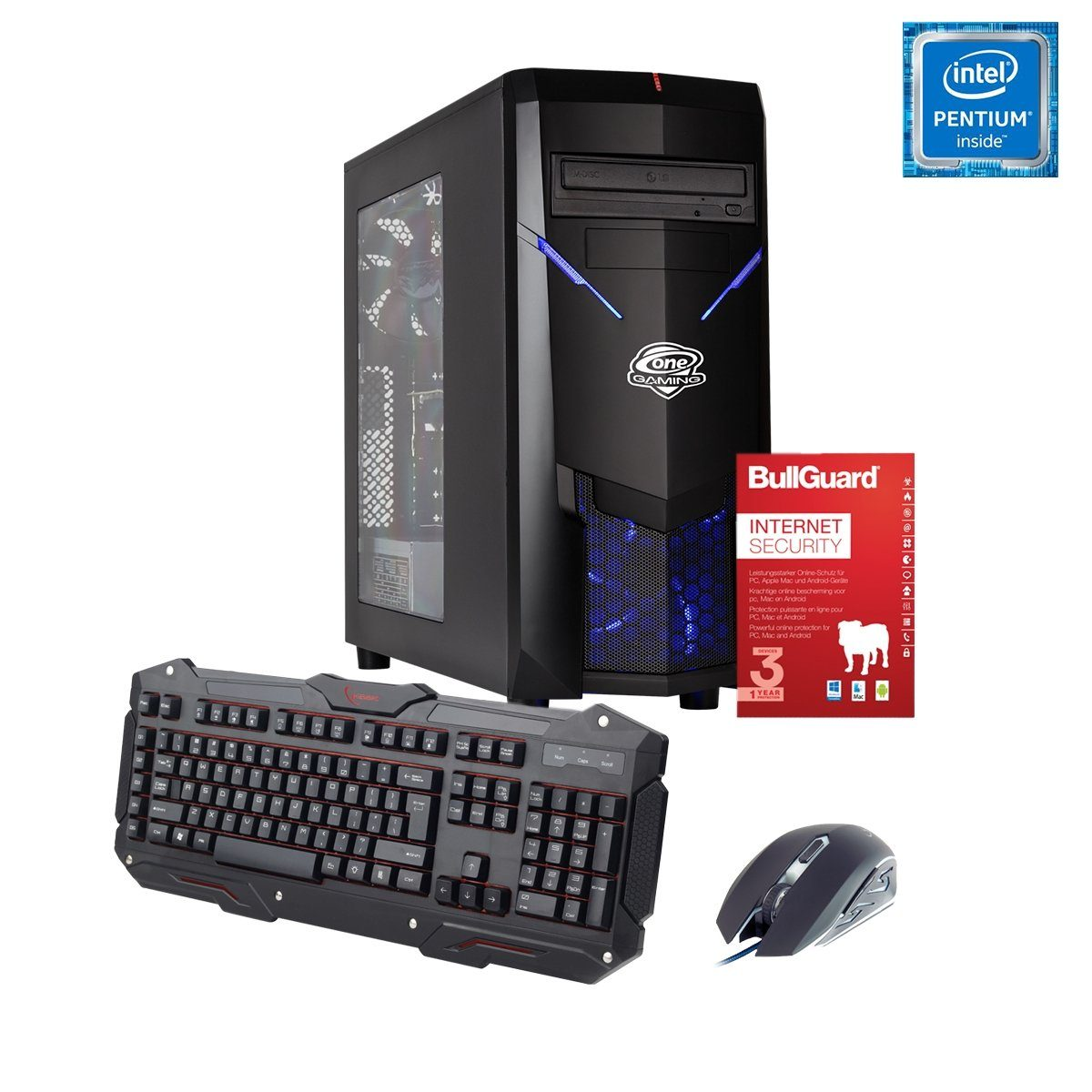 ONE GAMING PC, Pentium G4560, GeForce GTX 1050, 8GB DDR4 RAM »PC 44587«