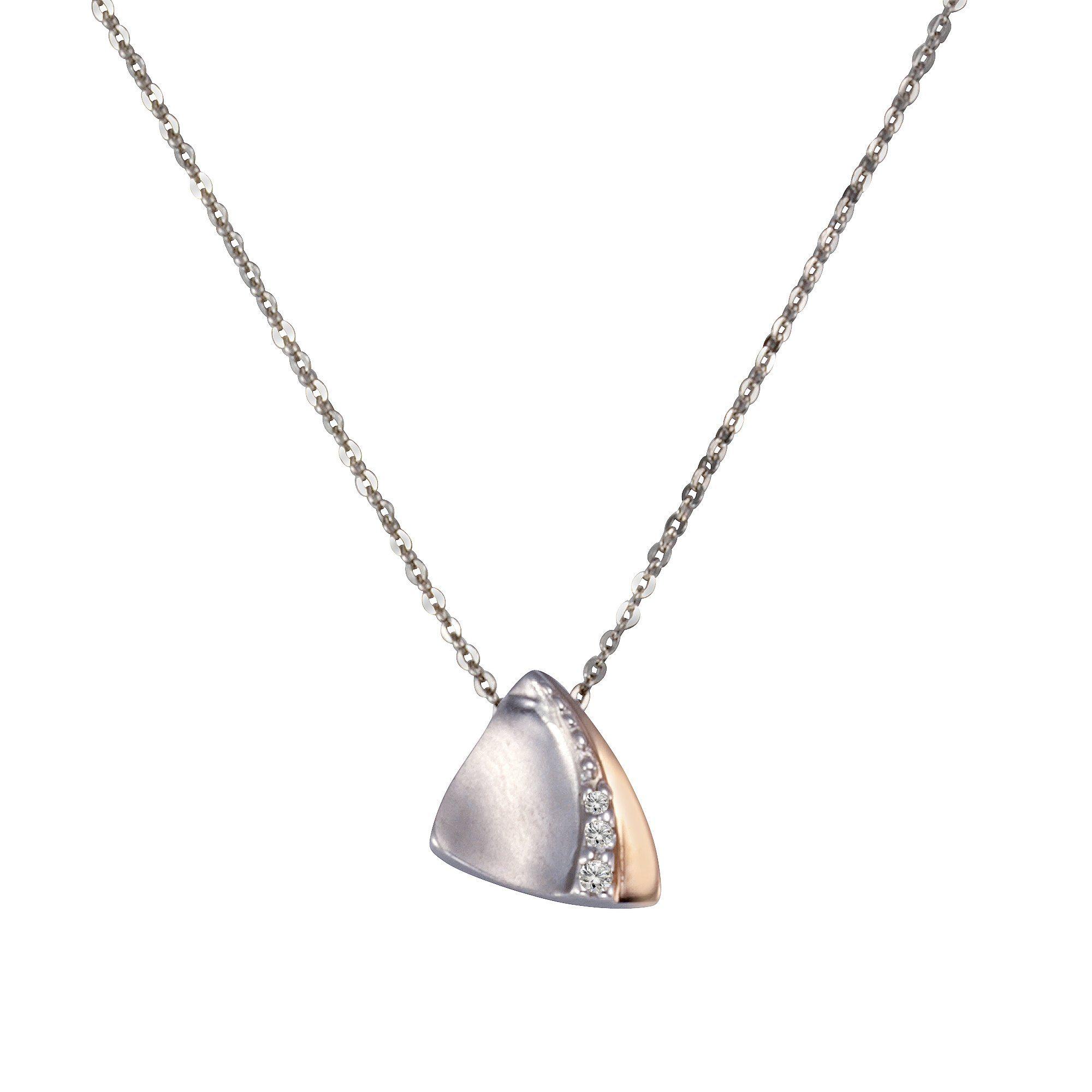 Zeeme Anhänger mit Kette »925/- Sterling Silber Zirkonia«