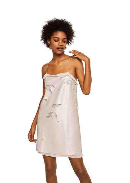 MANGO Kleid aus Wende-Pailletten